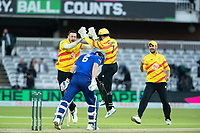 Tom Moores, Trent Rockets and Matt Carter, Trent Rockets celebrate the wicket of Joe Denly, London Spirit during London Spirit Men vs Trent Rockets Men, The Hundred Cricket at Lord's Cricket Ground on 29th July 2021