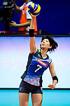 Yuki Ishii of Japan serves the ball during the match between China and Japan on May 30, 2018 in Hong Kong, Hong Kong. (Photo by Power Sport Images/Getty Images)