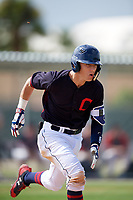 Carter Young (2) while playing for Indians Scout Team based out of Cleveland, Ohio during the WWBA World Championship at the Roger Dean Complex on October 21, 2017 in Jupiter, Florida.  Carter Young is a shortstop / catcher from Selah, Washington who attends Selah High School.  (Mike Janes/Four Seam Images)