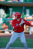 David Clawson (24) of the Orem Owlz bats against the Ogden Raptors at Lindquist Field on June 22, 2019 in Ogden, Utah. The Owlz defeated the Raptors 7-4. (Stephen Smith/Four Seam Images)