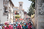 The start of Stage 2 of La Vuelta d'Espana 2021, running 166.7km from Caleruega. VIII Centenario de Santo Domingo de Guzmán to Burgos. Gamonal, Spain. 15th August 2021.    <br /> Picture: Unipublic/Charly Lopez   Cyclefile<br /> <br /> All photos usage must carry mandatory copyright credit (© Cyclefile   Unipublic/Charly Lopez)
