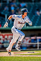 18 July 2018: New Hampshire Fisher Cats infielder Cavan Biggio in action against the Trenton Thunder at Northeast Delta Dental Stadium in Manchester, NH. The Fisher Cats defeated the Thunder 3-2 in a 7-inning, second game of the day. Mandatory Credit: Ed Wolfstein Photo *** RAW (NEF) Image File Available ***