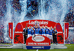 Rangers with the SPFL Championship and captain Lee Wallace lifts the trophy