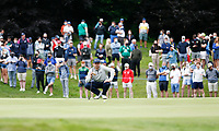 2nd July 2021; Mount Juliet Golf Club, Kilkenny, Ireland; Dubai Duty Free Irish Open Golf, Day Two; John Catlin of the USA lines up his putt on the 10th green