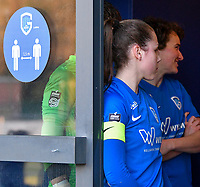 Captain Sien Vandersanden (10) of KRC Genk pictured before a female soccer game between  Racing Genk Ladies and Eendracht Aalst on the 5 th matchday of play off 2 in the 2020 - 2021 season of Belgian Scooore Womens Super League , friday 7 th of May 2021  in Genk , Belgium . PHOTO SPORTPIX.BE | SPP | JILL DELSAUX