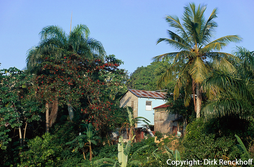 Dominikanische Republik, Hütte in der Sierra Oriental