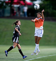 Gloria Douglas, Molly Menchel.  The D.C. United Women defeated the Charlotte Lady Eagles, 3-0, to win the W-League Eastern Conference Championship.