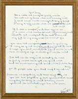 BNPS.co.uk (01202 558833)<br /> Pic: Bonhams/BNPS<br /> <br /> Your Song...Est £220,000<br /> <br /> The original lyrics to Elton John's most famous songs are being sold in a million pound sale at Bonhams.<br /> <br /> They are being sold by his songwriting collaborator Bernie Taupin's ex wife Maxine Taupin, who was the inspiration for the song 'Tiny Dancer'.<br /> <br /> The auction includes the lyrics for the classic tracks 'Your Song', 'Goodbye Yellow Brick Road' and 'Candle in the Wind'.<br /> <br /> Its opening line was originally 'Goodbye Marilyn Monroe' but has been crossed out, with her real name 'Norma Jean' put in its place.<br /> <br /> Also going under the hammer are the lyrics for 'Bennie and the Jets', 'Saturday's Alright for Fighting' and 'The Border Song', which was a rare example of Elton and Taupin collaborating on the words.