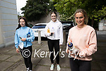 Lauren Goodwin, Aoife Dillane and Clodagh Donnelly, students at Gaelcholaiste Chiarrai, Tralee who sat Leaving certificate paper 1 on Wednesday.