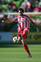 MELBOURNE, AUSTRALIA - January 2:  Wayne Srhoj of the Heart controls the ball during the round 21 A-League match between Melbourne Heart and North Queensland Fury at AAMI Park on January 2, 2011 in Melbourne, Australia. (Photo by Sydney Low / Asterisk Images)