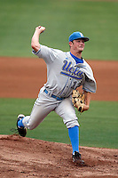 Gerrit Cole of the UCLA Bruins pitching against the Arizona State Sun Devils at Packard Stadium, Tempe, AZ - 05/22/2009.Photo by:  Bill Mitchell/Four Seam Images