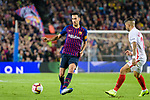 Sergio Busquets of FC Barcelona in action during the La Liga 2018-19 match between FC Barcelona and Sevilla FC at Camp Nou Stadium on October 20 2018 in Barcelona, Spain. Photo by Vicens Gimenez / Power Sport Images