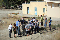 Pictured: Detective Inspector Jon Cousins of South Yorkshire Police reads a statement to the media at the end of the search at the farmhouse site where Ben Needham disappeared from in Kos, Greece. Monday 17 October 2016<br />Re: The search for missing Ben Needham led by South Yorkshire Police has concluded on the Greek island of Kos.<br />Ben, from Sheffield, was 21 months old when he disappeared on 24 July 1991 during a family holiday.<br />Digging took place around the farmhouse where Ben Needham was last seen and at a new site after a fresh line of inquiry suggested he could have been crushed by a digger.