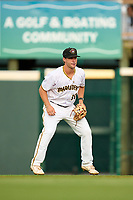 Bradenton Marauders second baseman Jackson Glenn (10) during Game One of the Low-A Southeast Championship Series against the Tampa Tarpons on September 21, 2021 at LECOM Park in Bradenton, Florida.  (Mike Janes/Four Seam Images)
