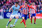 Pedro Pablo Hernandez of RC Celta de Vigo (L) fights for the ball with Kevin Gameiro of Atletico de Madrid (R) during the La Liga 2017-18 match between Atletico de Madrid and RC Celta de Vigo at Wanda Metropolitano on March 11 2018 in Madrid, Spain. Photo by Diego Souto / Power Sport Images