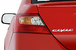 Tail light close up detail view of a 2009 Honda Civic Coupe EX