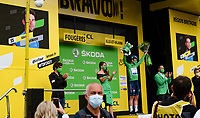 after winning stage 4, Mark Cavendish (GBR/Deceuninck - Quick Step) is also the newest Green Jersey / points leader<br /> <br /> Stage 4 from Redon to Fougères (150km)<br /> 108th Tour de France 2021 (2.UWT)<br /> <br /> ©kramon
