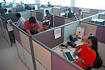 Software professionals at work in Wipro Bangalore office. Wipro is the second largest software company in the country and the head office is in Bangalore, Karnataka, India. Arindam Mukherjee