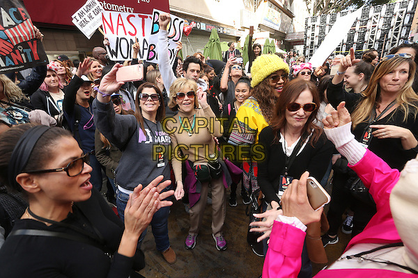 ALos Angeles CA - JANUARY 21: Debbie Allen, Jane Fonda, At Women's March Los Angeles, At Downtown Los Angeles In California on January 21, 2017. <br /> CAP/MPI/FS<br /> ©FS/MPI/Capital Pictures