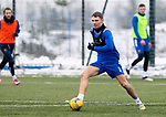 St Johnstone Training...   21.01.21<br />Jason Kerr pictured during training at McDiarmid Park ahead of Saturday's BetFred Cup semi-final against Hibs at Hampden.<br />Picture by Graeme Hart.<br />Copyright Perthshire Picture Agency<br />Tel: 01738 623350  Mobile: 07990 594431