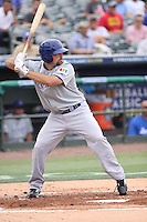 Cody Decker of Team Israel at batl during a game against Team Spain during the World Baseball Classic preliminary round at Roger Dean Stadium on September 21, 2012 in Jupiter, Florida. Team Israel defeated Team Spain 4-2. (Stacy Jo Grant/Four Seam Images)
