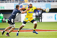 Sebastien VAHAAMAHINA of Clermont and Romain BRIATTE of Agen during the Top 14 match between Clermont and Agen on October 3, 2020 in Clermont-Ferrand, France. (Photo by Romain Biard/Icon Sport) - Stade Marcel Michelin - Clermont Ferrand (France)