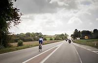 early breakaway attempt by Rémi Cavagna (FRA/Quickstep Floors)<br /> <br /> Binche-Chimay-Binche 2017 (BEL) 197km<br /> 'Mémorial Frank Vandenbroucke'