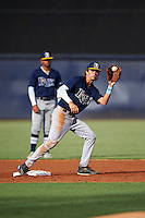 Brady McConnell (8) of Merritt Island High School in Merritt Island, Florida playing for the Tampa Bay Rays scout team during the East Coast Pro Showcase on August 3, 2016 at George M. Steinbrenner Field in Tampa, Florida.  (Mike Janes/Four Seam Images)