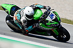 WorldSBK supported test SSP600  day 2 at Circuit de Barcelona-Catalunya, picture show  L. Taccini riding Kawasaki ZX 6R from Orelac Racing