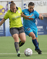 Famkes Westhoek Diksmuide   -  Saint Ghislain  :  Laura Gorniak en Hanne bOrteel .<br /> foto VDB / BART VANDENBROUCKE