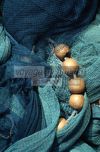 Europe/France/Aquitaine/64/Pyrénées-Atlantiques/Saint-Jean-de-Luz: Détail des filets de pêche sur le port