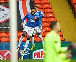 13.12.2020 Dundee Utd v Rangers: Connor Goldson celebrates his goal for Rangers