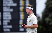 Michael Rae prepares to bowl during day three of the Plunket Shield match between the Wellington Firebirds and Otago Volts at Basin Reserve in Wellington, New Zealand on Saturday, 7 November 2020. Photo: Dave Lintott / lintottphoto.co.nz