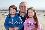 Enjoying a stroll on Ballyheigue beach on Saturday, l to r: Jack, Stephen and Amelia O'Flaherty.