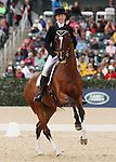 April 25, 2014: Foxwood High and Selena O'Hanlon compete in Dressage at the Rolex Three Day Event in Lexington, KY at the Kentucky Horse Park.  Candice Chavez/ESW/CSM