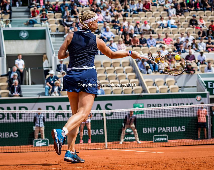 Paris, France, 27 May, 2019, Tennis, French Open, Roland Garros, Kiki Bertens (NED)<br /> Photo: Henk Koster/tennisimages.com