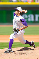 Starting pitcher Cameron Bayne #13 of the Winston-Salem Dash in action against the Kinston Indians at BB&T Ballpark on April 17, 2011 in Winston-Salem, North Carolina.   Photo by Brian Westerholt / Four Seam Images