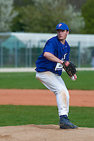 18 April 2006: Joris Bert pitches during the third of seven 2006 MLB European Academy Try-out Sessions throughout Europe, at Stade Pershing, INSEP, near Paris, France. Try-out sessions are run by members of the Major League Baseball Scouting Bureau with assistance from MLBI staff.
