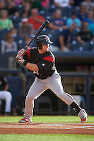 Richmond Flying Squirrels third baseman Christian Arroyo (22) at bat during a game against the Akron RubberDucks on July 26, 2016 at Canal Park in Akron, Ohio .  Richmond defeated Akron 10-4.  (Mike Janes/Four Seam Images)