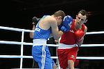 Glasgow 2014 Commonwealth Games<br /> Sean McGoldrick, Wales (Blue) v Jackson Woods, Australia (Red)<br /> Men's Bantam (56kg)<br /> <br /> 28.07.14<br /> ©Steve Pope-SPORTINGWALES