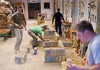 Training course for bricklayers at Able Skills, Dartford, Kent.