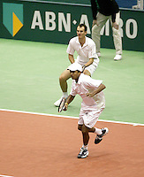 24-2-06, Netherlands, tennis, Rotterdam, ABNAMROWTT, Bhupathi and Moodie in the doubbles against Erlich and Ram