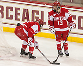 Abby Cook (BU - 9), Natasza Tarnowski (BU - 13) - The Boston College Eagles defeated the visiting Boston University Terriers 5-3 (EN) on Friday, November 4, 2016, at Kelley Rink in Conte Forum in Chestnut Hill, Massachusetts.The Boston College Eagles defeated the visiting Boston University Terriers 5-3 (EN) on Friday, November 4, 2016, at Kelley Rink in Conte Forum in Chestnut Hill, Massachusetts.