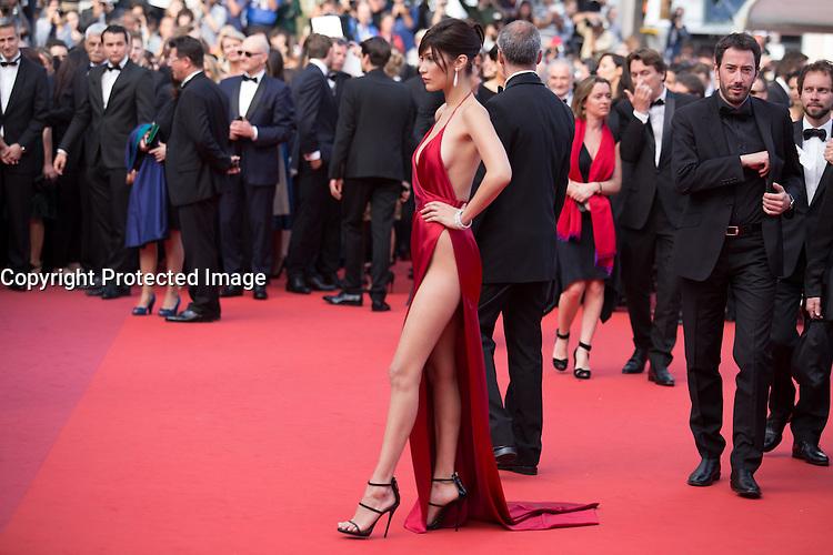 Bella Hadid - CANNES 2016 - MONTEE DES MARCHES DU FILM 'LA FILLE INCONNUE'