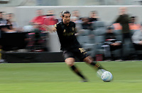 LOS ANGELES, CA - MARCH 01: Carlos Vela #10 of the LAFC moves with the ball during a game between Inter Miami CF and Los Angeles FC at Banc of California Stadium on March 01, 2020 in Los Angeles, California.