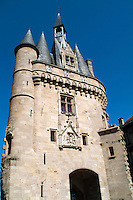 The Medieval Cailhau city gate in  Bordeaux, Gironde, France.