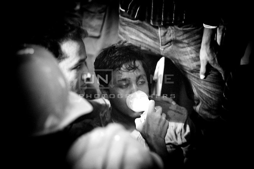 Rescue operation inside of the collapsed building Rana Plaza, in Savar, near Dhaka, Bangladesh