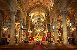 Frankreich, Provence-Alpes-Côte d'Azur, Menton: Basilika Saint-Michel-Archange - innen| France, Provence-Alpes-Côte d'Azur, Menton: Basilika Saint-Michel-Archange - interior