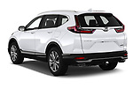 Car pictures of rear three quarter view of 2020 Honda CR-V Touring 5 Door SUV Angular Rear