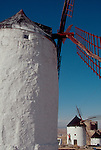 Spanish windmills, Consuegra, Spain, Don Quixote and the windmills of the La Mancha country